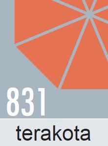 Slunečník Doppler PROFILINE ALUPRO III Push Up 260cm - terakota barva