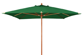 Slunečník Doppler WOODLINE MONTE CARLO LUXUS 300x300 cm - tmavě zelená barva