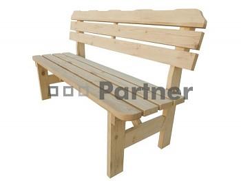 Masivní dřevěný zahradní nábytek (lavice z borovice) dřevo 32 mm