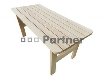 Masivní dřevěný zahradní nábytek (stůl z borovice) dřevo 32 mm