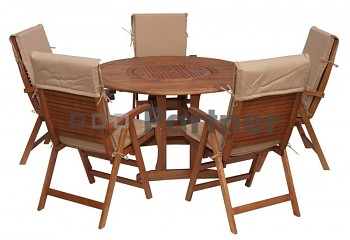 Zahradní nábytek sestava MALAGA 1+4