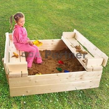 Dětské pískoviště s lavičkou + bábovičky zdarma