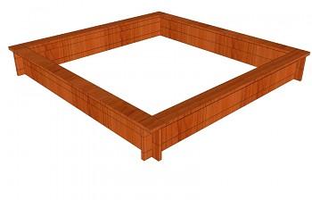 Pískoviště čtverec 180 x 180 cm