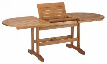 Oválný zahradní stůl rozkládací Lake Sylva 150/210x90cm