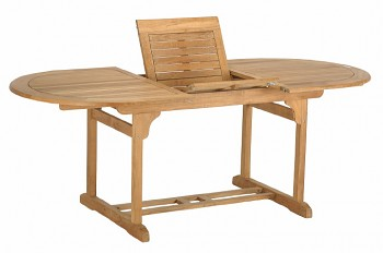 Oválný zahradní stůl rozkládací Lake Moraine 150/210x100 cm