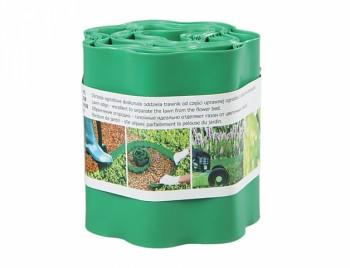 Obruba trávníků a záhonů plastová 9m x 0.15m - světle zelená barva