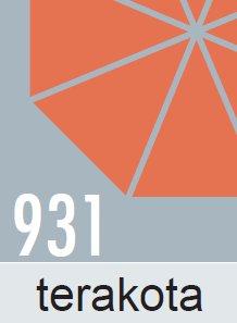 Slunečník Doppler WOODLINE KURBEL 300cm - terakota barva