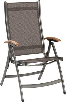 Židle Doppler Tornádo teak antracit polohovací