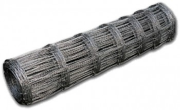 Lesnické pozinkované pletivo s napínacím drátem nahoře a dole s šířkou drátu 2,0 mm - výška 160 cm